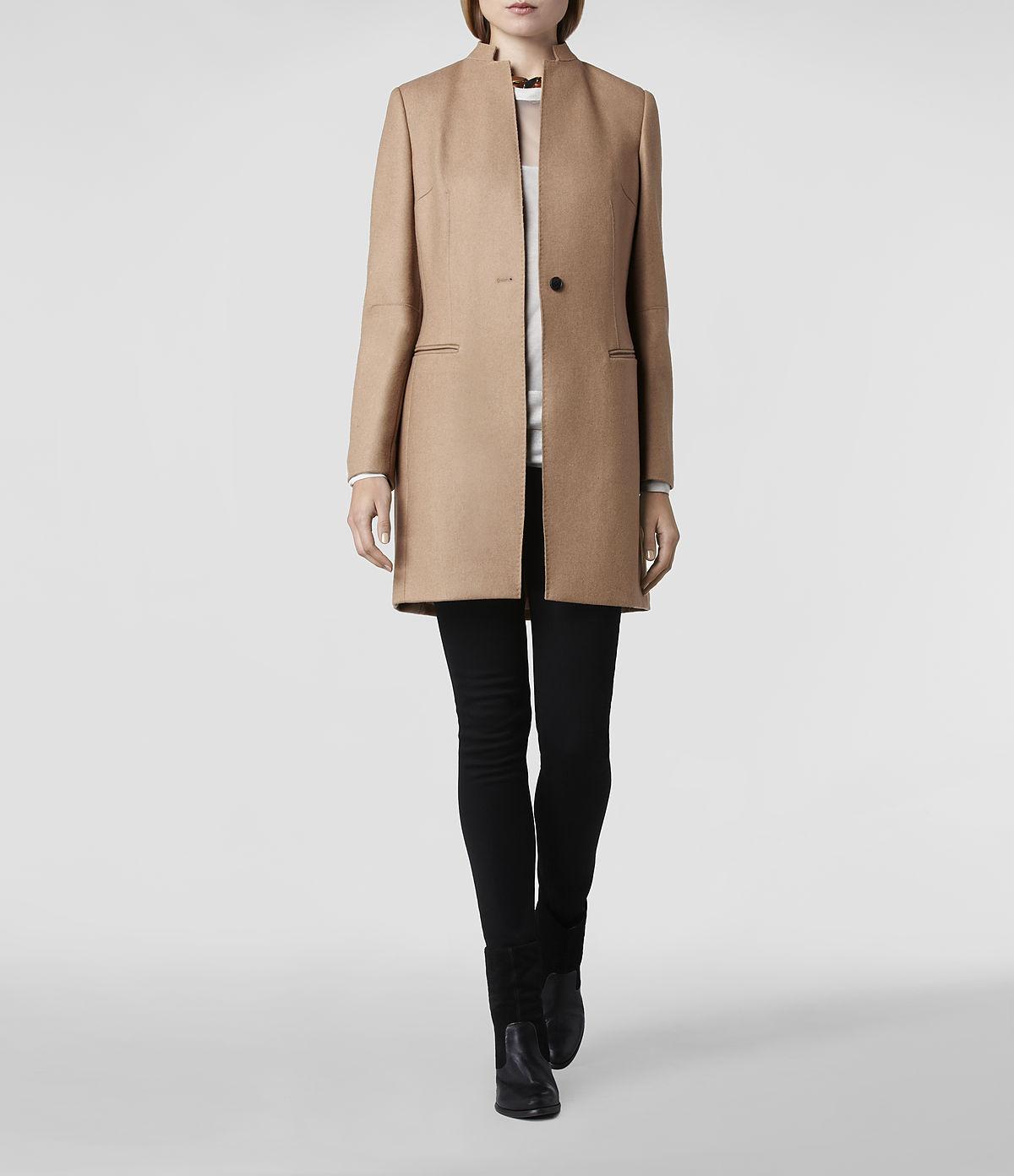 Lyst  Allsaints Hendrick Coat In Natural