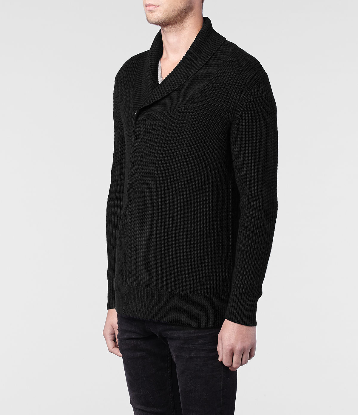 Lyst  Allsaints Rigg Cardigan In Black For Men