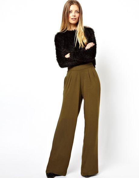 Luxury High Quality Women Chiffon Wide Leg Pants Plus Size Black White Khaki