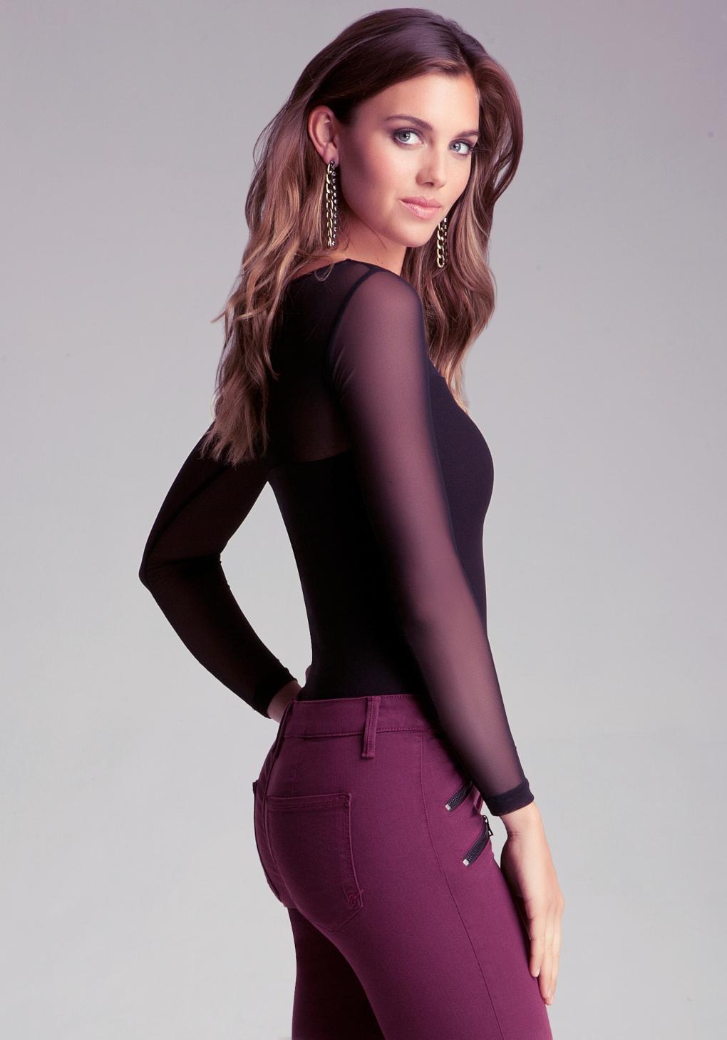 Lyst - Bebe Cutout Bodycon Dress in Purple