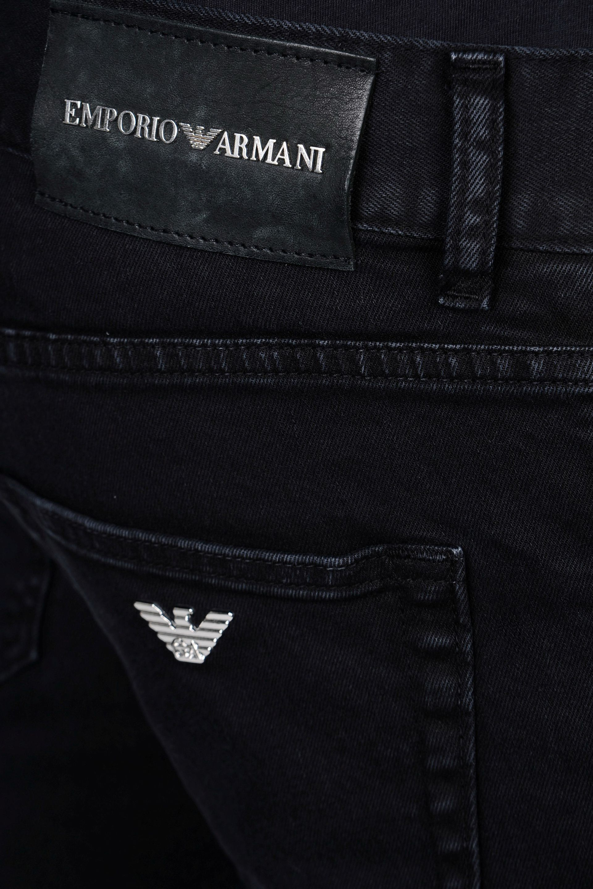 lyst emporio armani slim fit clean wash jeans in black