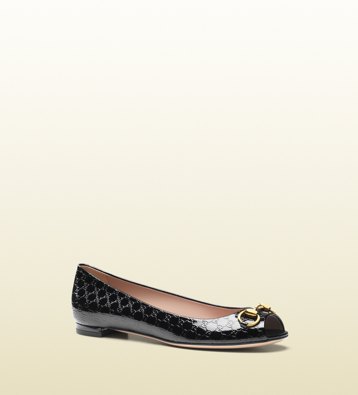 1ff4a1a0e Gucci Jolene Patent Leather Ballet Flat in Black - Lyst