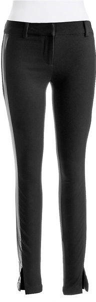 Jessica Simpson Ponte Pants With Faux Leather Side Panels