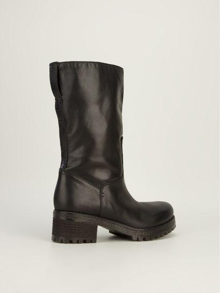 Jfk Mid Calf Length Boot In Black Lyst