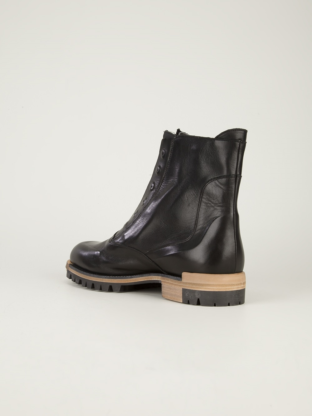 lanvin ankle boot in black for lyst