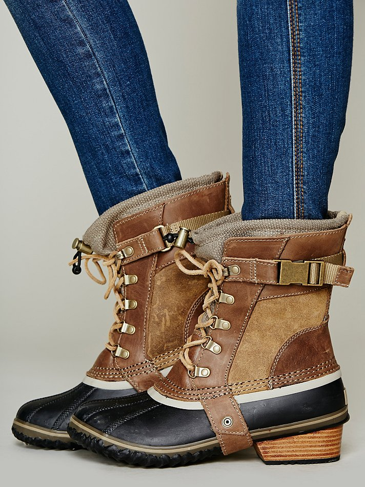 Free People Conquest Carly Short Boot In Brown Lyst