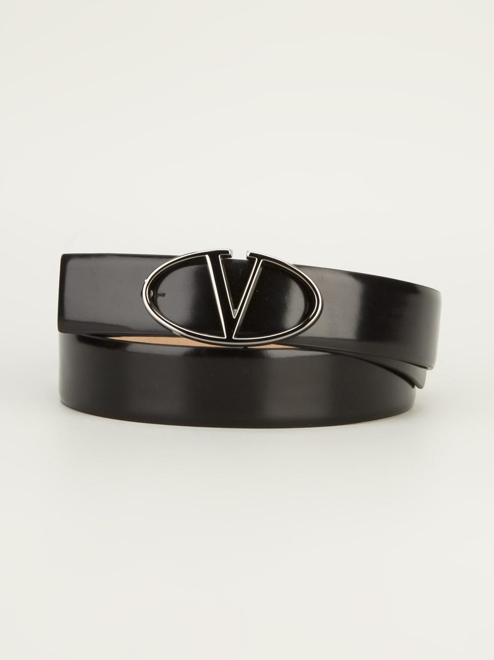 Valentino Branded Belt In Black For Men Lyst