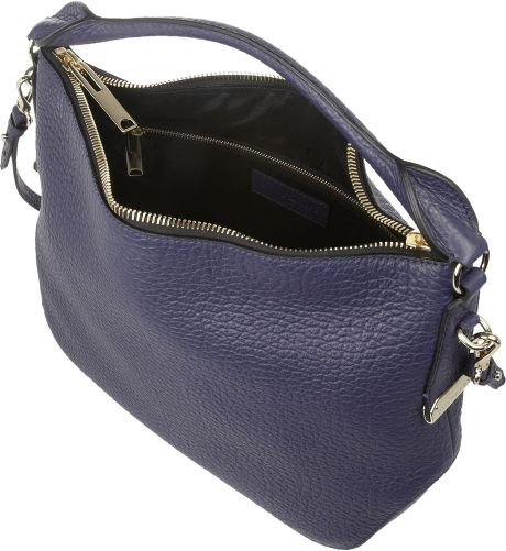 Burberry Textured Leather Shoulder Bag in Blue