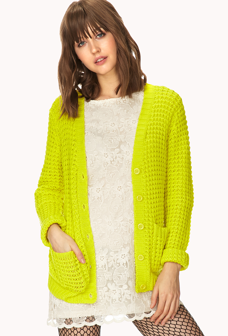 Women cardigan for clothing yellow bright top plus size