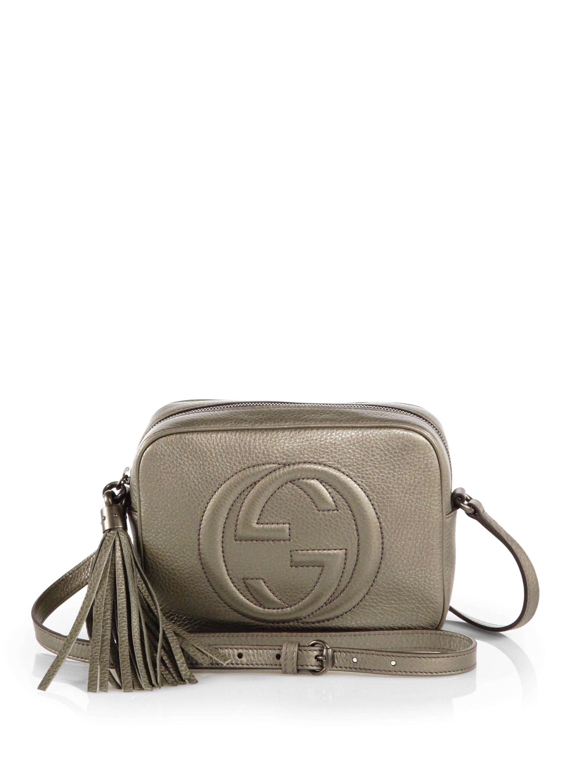 26e43ab7 Gucci Soho Metallic Leather Disco Bag