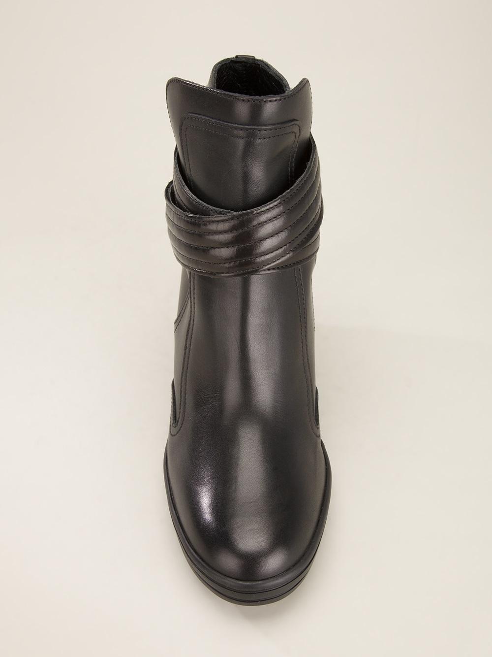 rebel wedge boot in black lyst