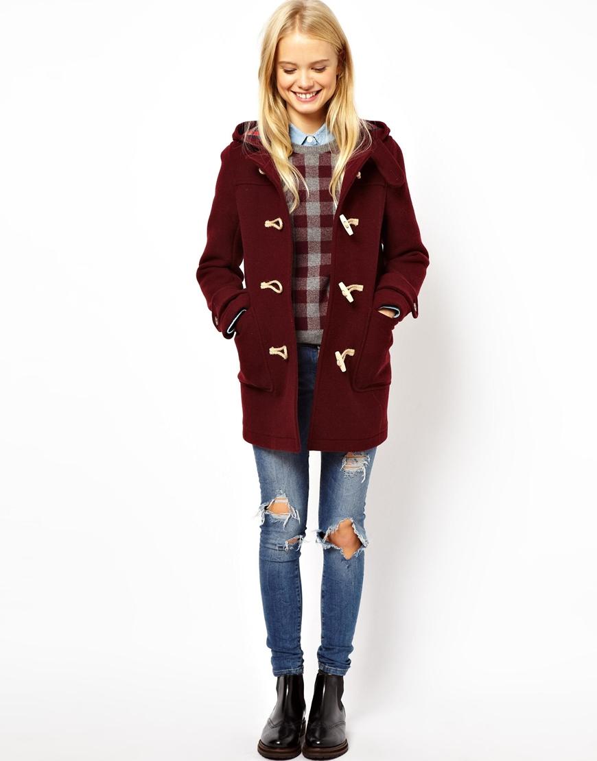 Checked Duffle Coat | Down Coat