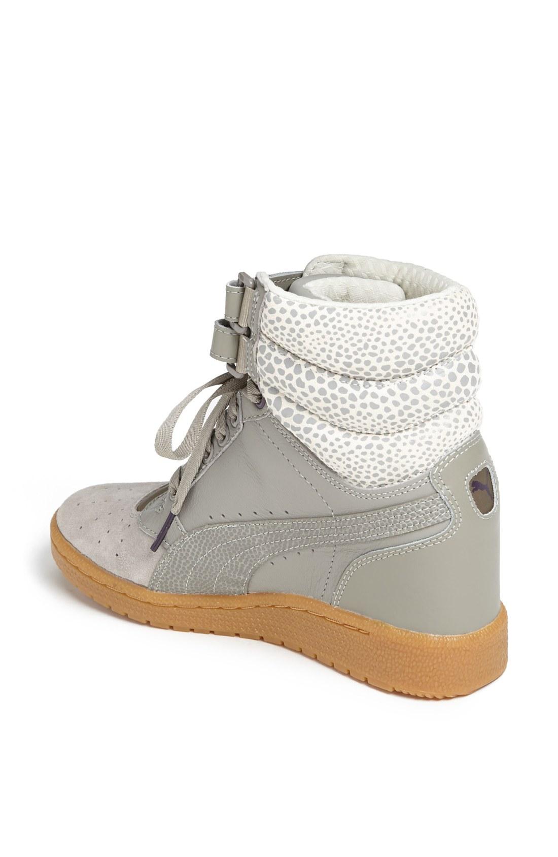 puma sky wedge women  39 s sneakers winter white  790a9388d