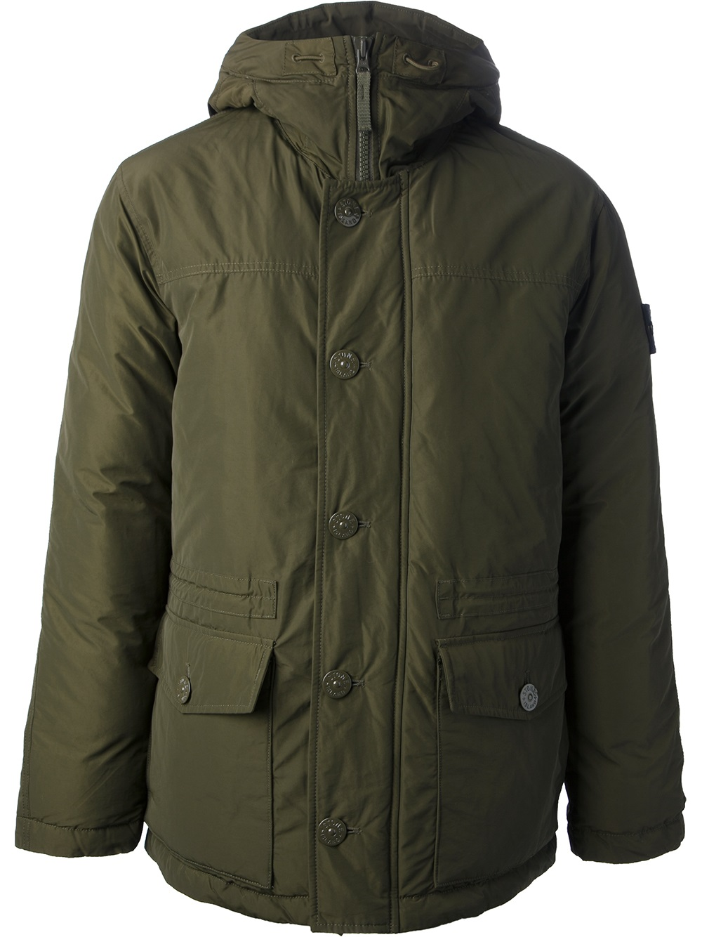 Stone Island Hooded Jacket In Green For Men Lyst