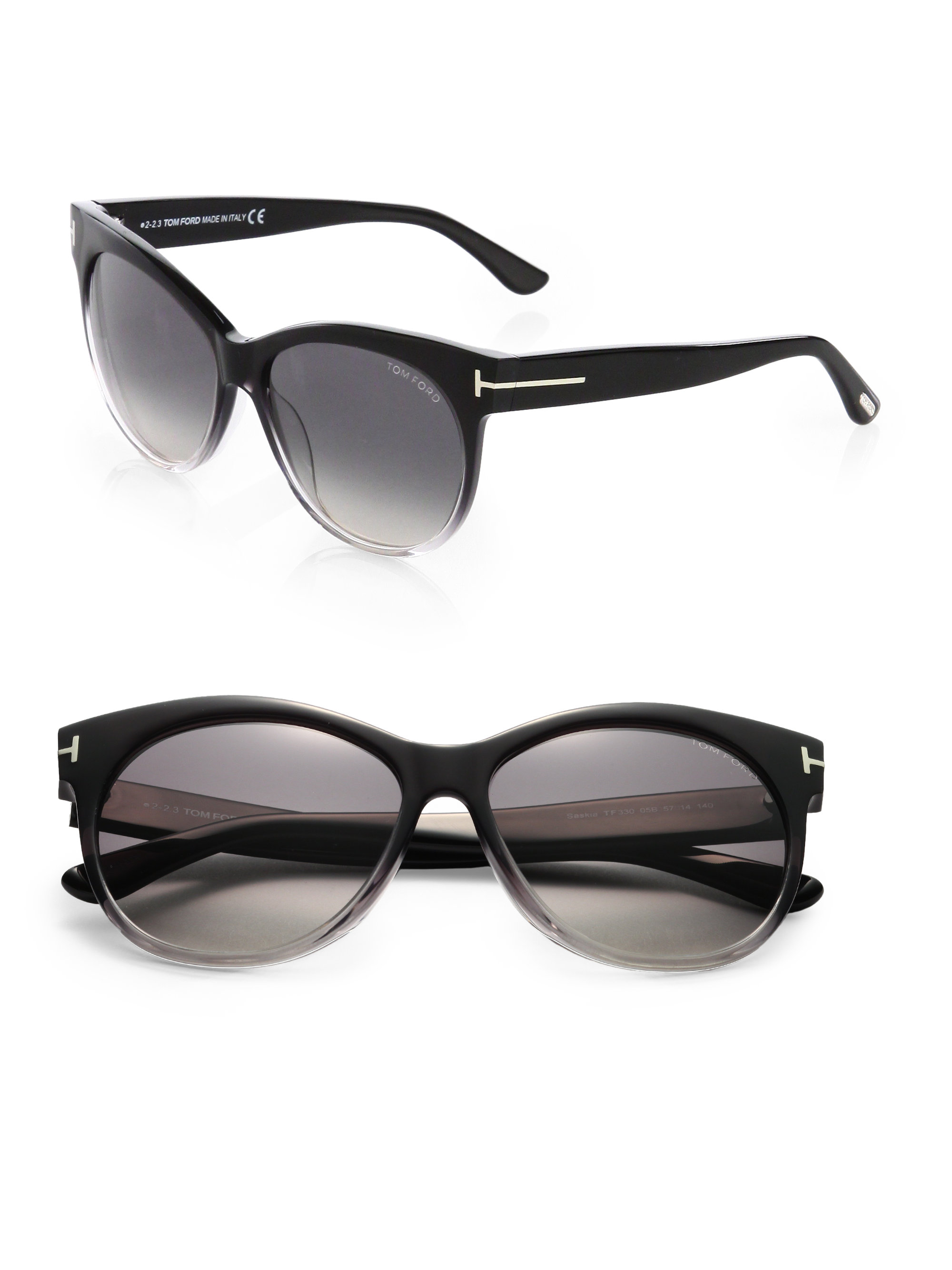 Tom Ford Oversized Sunglasses  tom ford saskia oversized sunglasses in black lyst