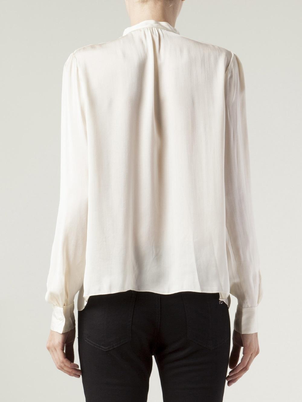 Long White Tunic Blouse