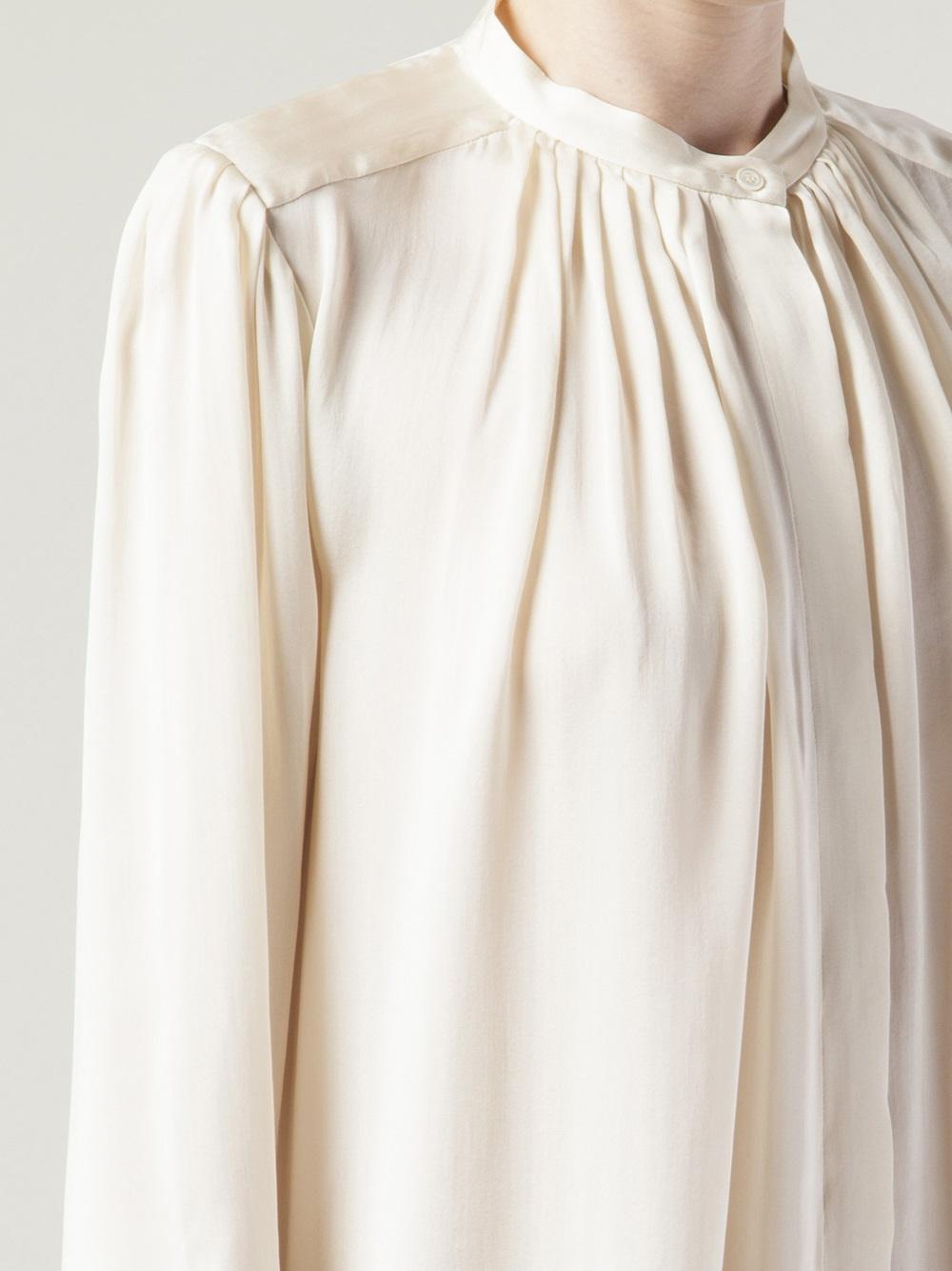 Long White Blouse Tunic