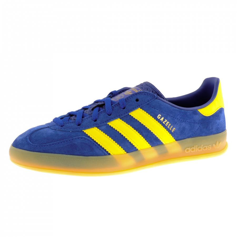 Blue Yellow Stripe Adidas Shoes
