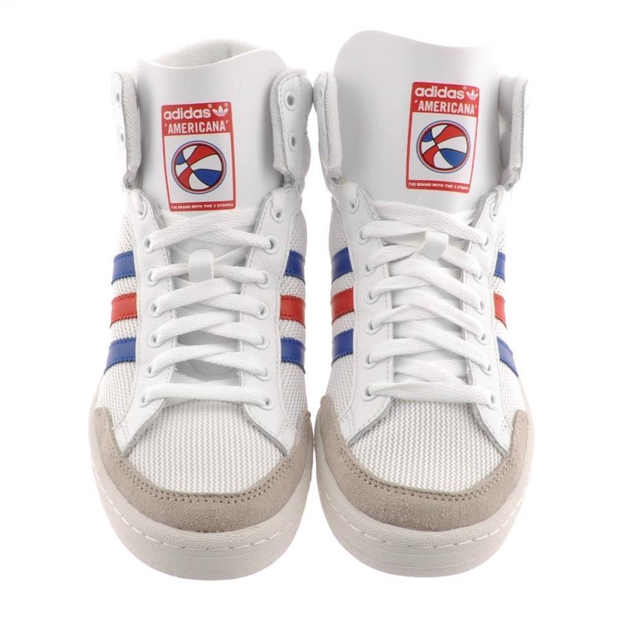 competitive price 6ea05 ef666 Lyst - adidas Originals Americana Hi 88 Trainers in White fo