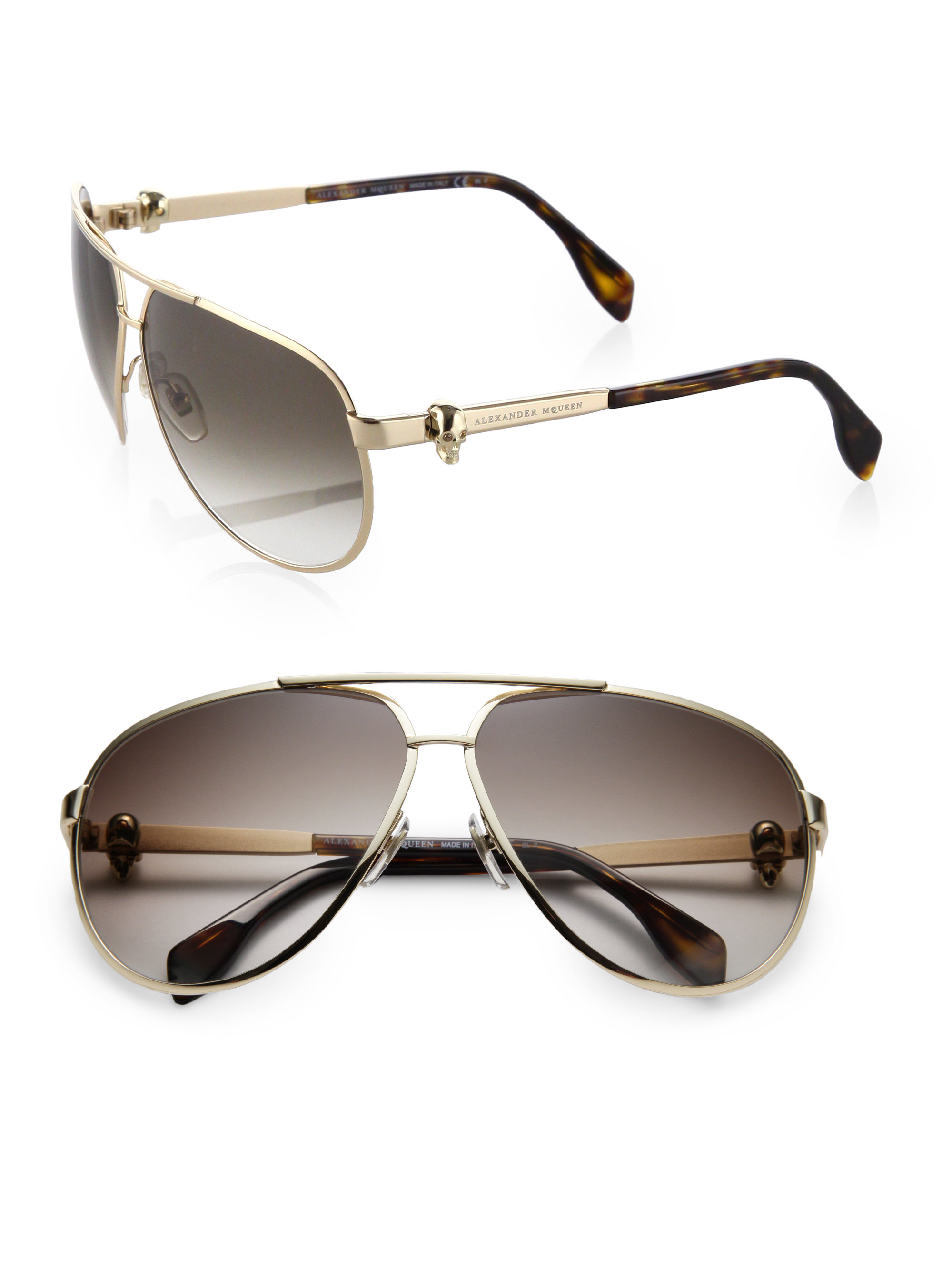gradient aviator sunglasses - Brown Alexander McQueen Eyewear rXXcTbUp