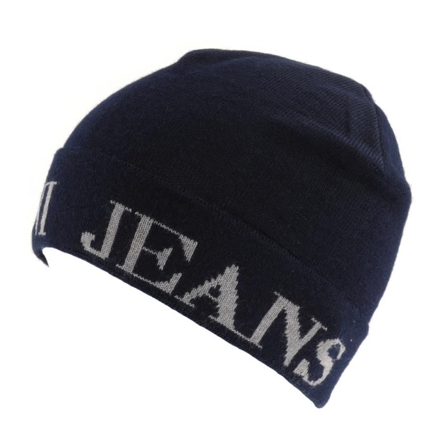 Lyst - Armani Jeans Logo Beanie in Blue for Men 297a04bc1c5