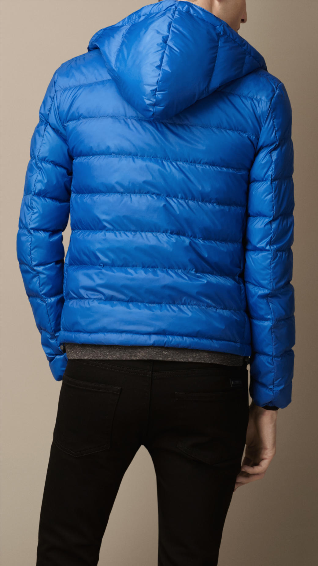 Burberry Down-Filled Puffer Jacket in Blue for Men