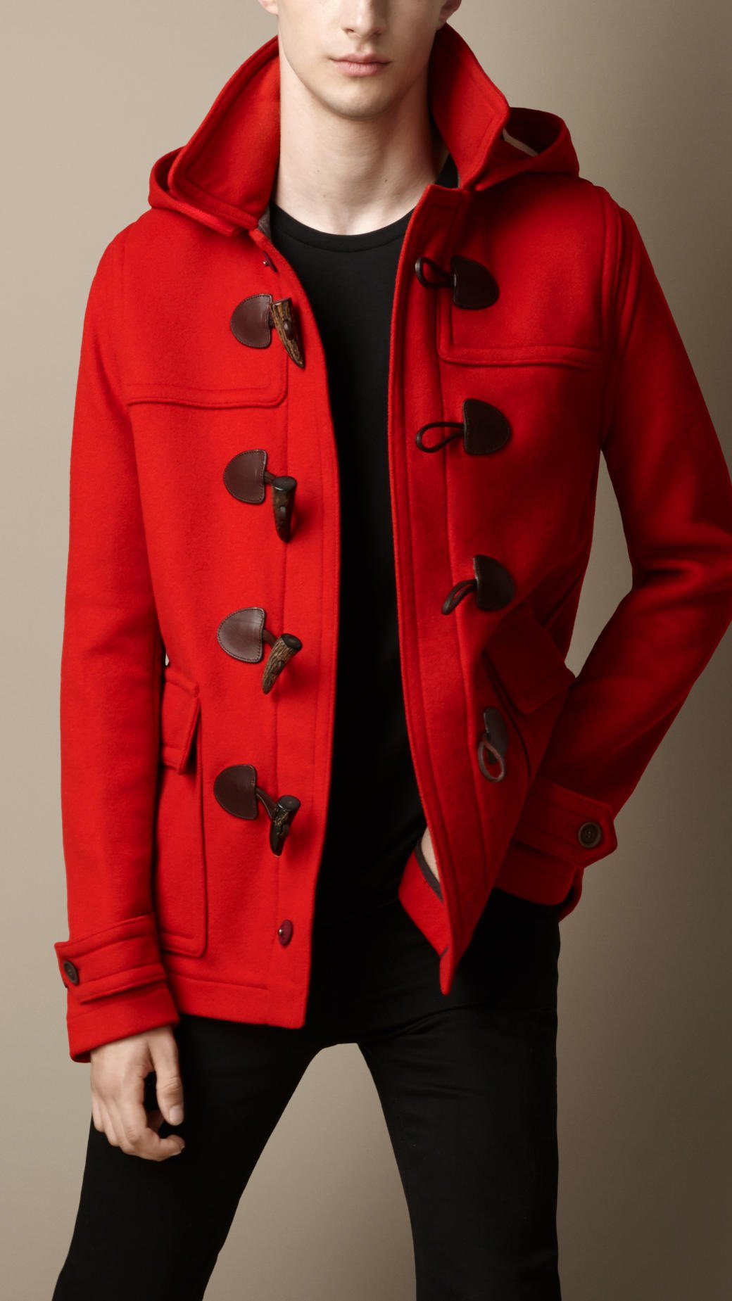 Red Wool Duffle Coat