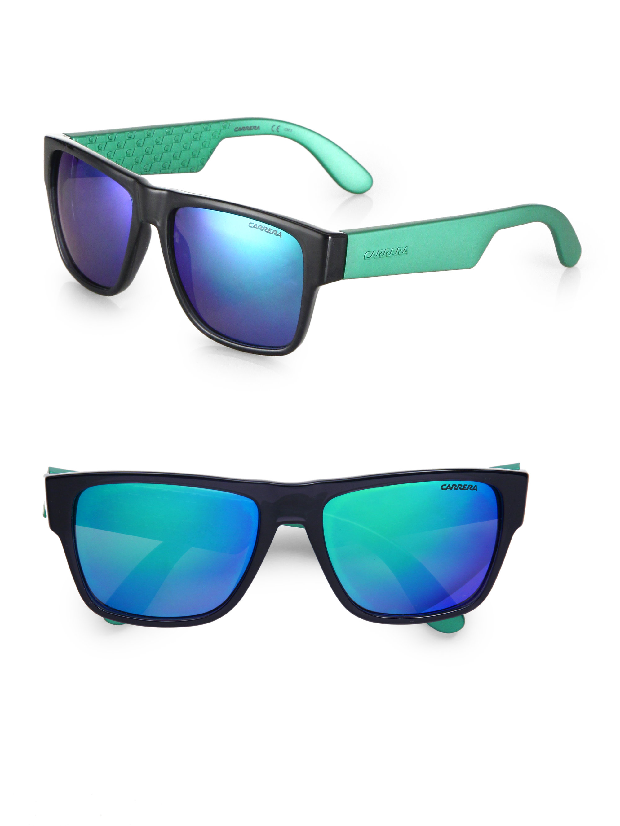 Carrera Wayfarer Sunglasses in Green for Men (GREY-GREEN ...