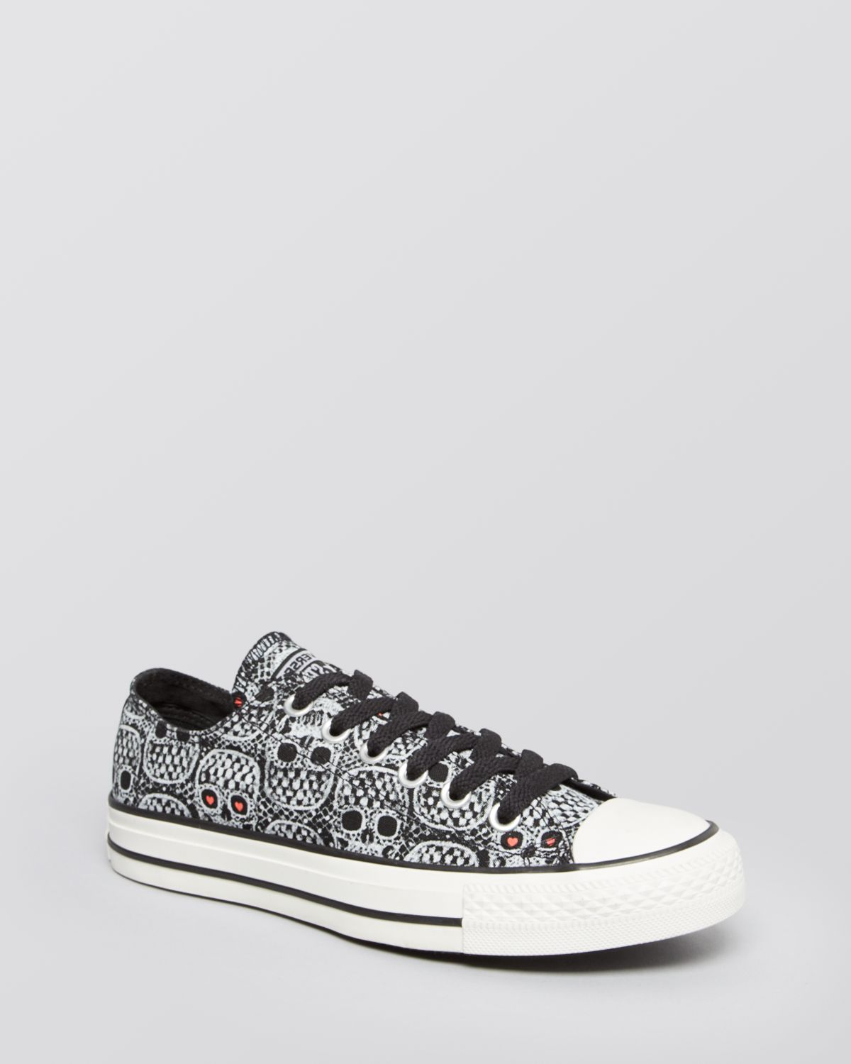 74fb5bb61af4 Lyst - Converse Lace Up Sneakers All Star Skull Lace Print in Black