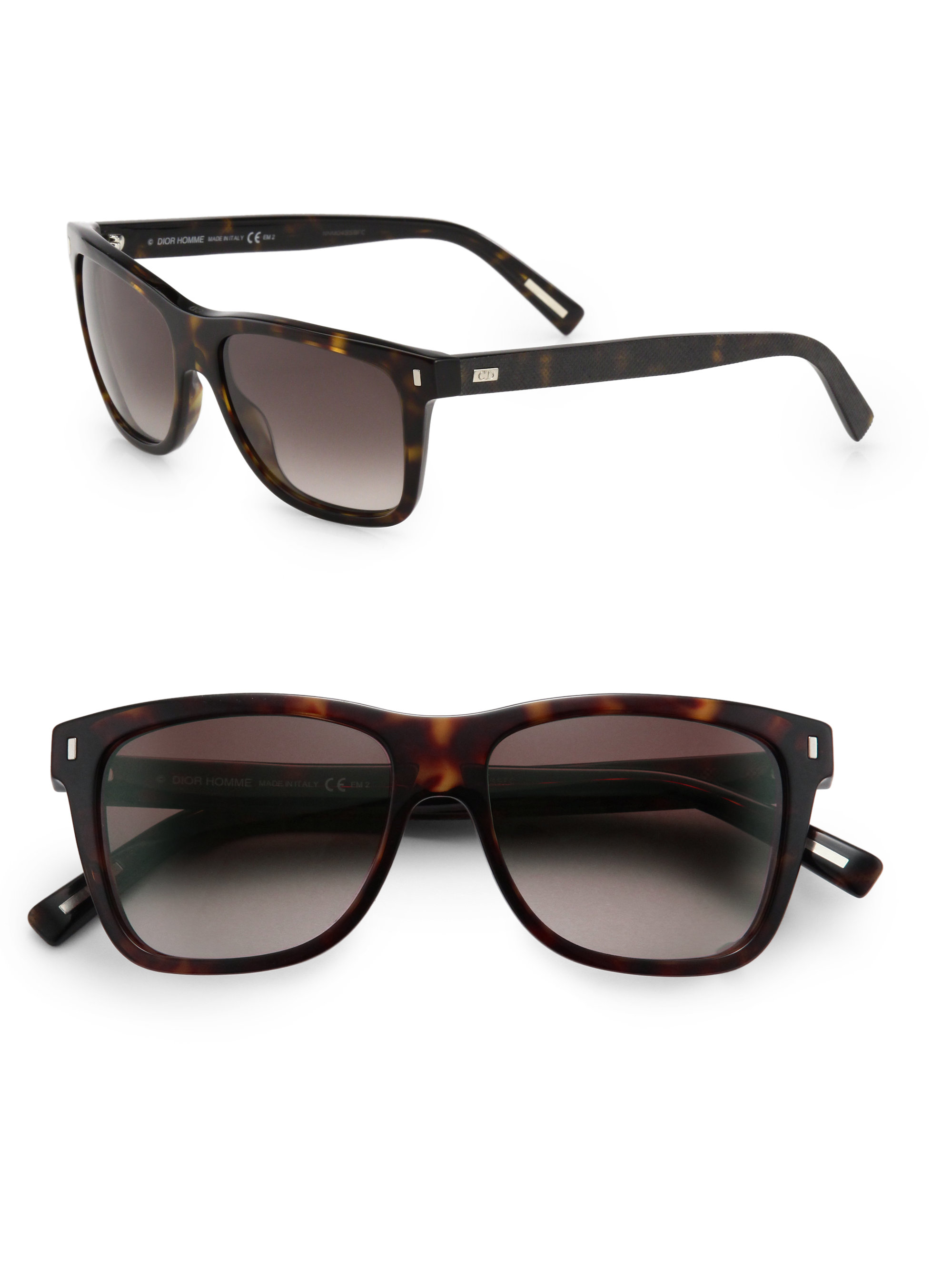 Dior Mens Sunglasses  dior homme acetate crosshatch wayfarer sunglasses in brown for men