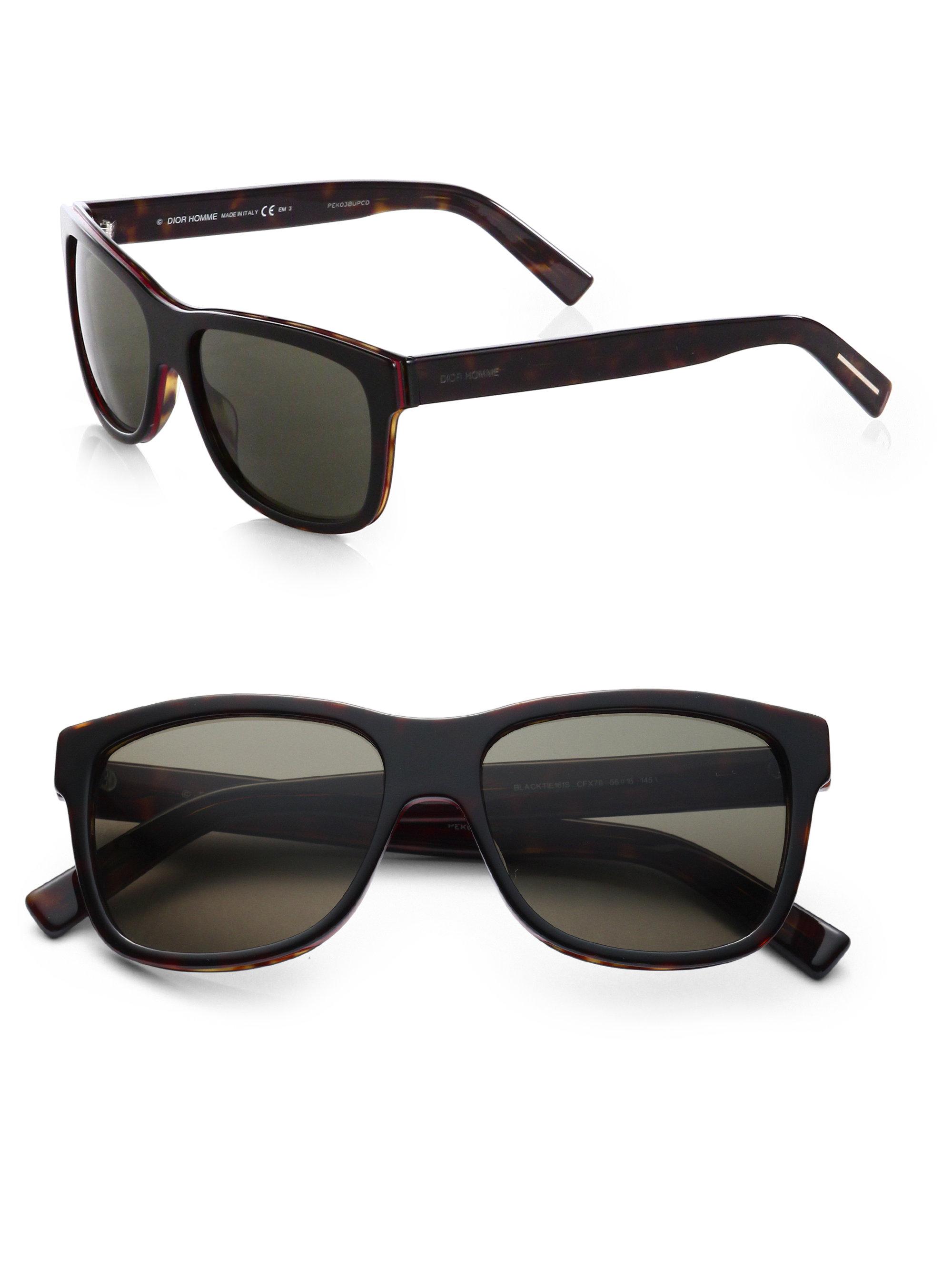 9c2916c9be Dior Homme Acetate Wayfarer Sunglasses in Black for Men - Lyst