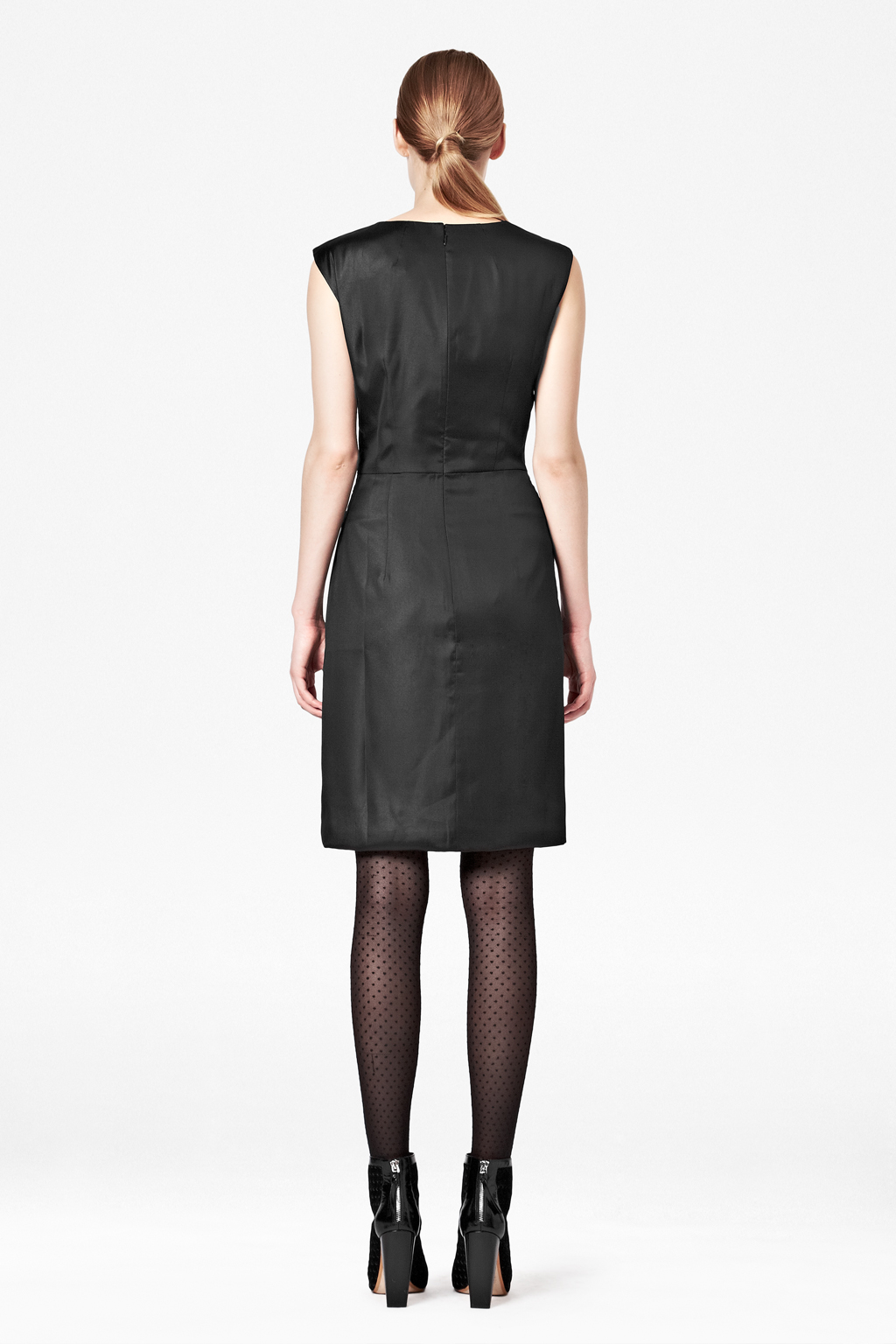 French Connection Fast Liquid Lacca Twist Dress In Black