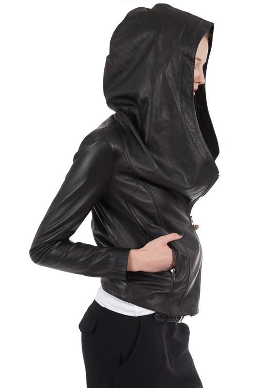 Ever hooded leather jacket – Modern fashion jacket photo blog