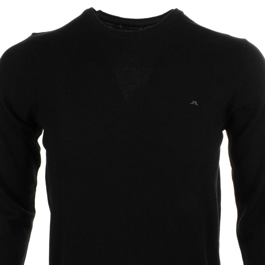 J.Lindeberg Lyle True Merino Knit Jumper in Black for Men