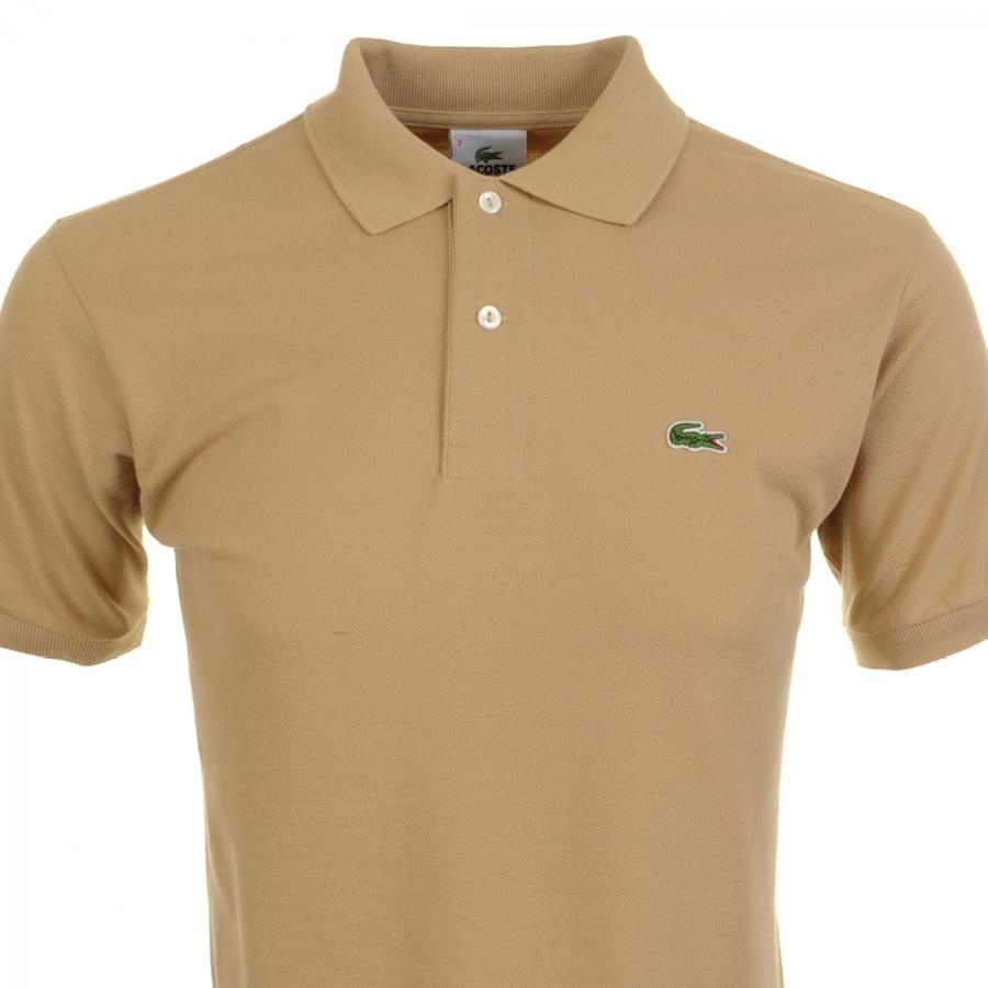 Lyst Lacoste Polo T Shirt Sahara In Natural For Men