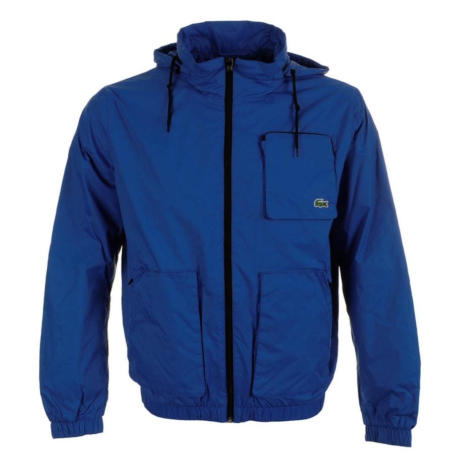 lacoste water repellent jacket gypsy in blue for men lyst. Black Bedroom Furniture Sets. Home Design Ideas