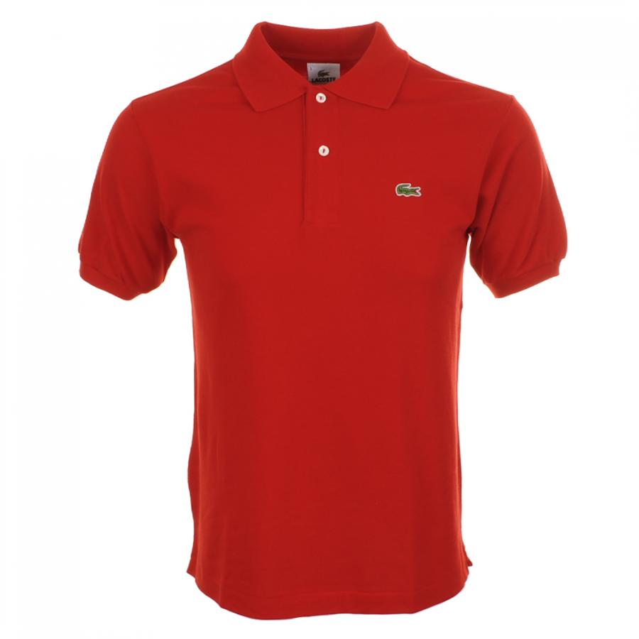 Lacoste Polo T Shirt In Red For Men Lyst