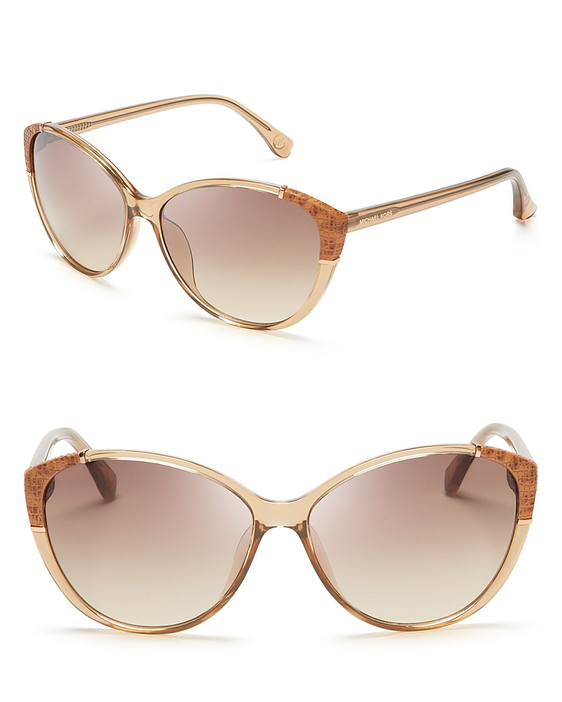 50cb25ee5f26 Michael Kors Paige Cat Eye Sunglasses in Brown - Lyst