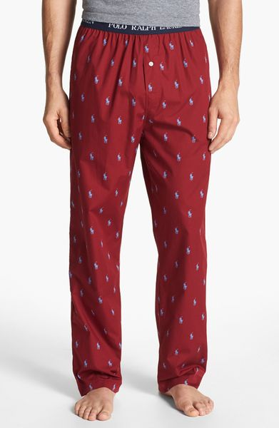 Polo Ralph Lauren Cotton Lounge Pants In Red For Men