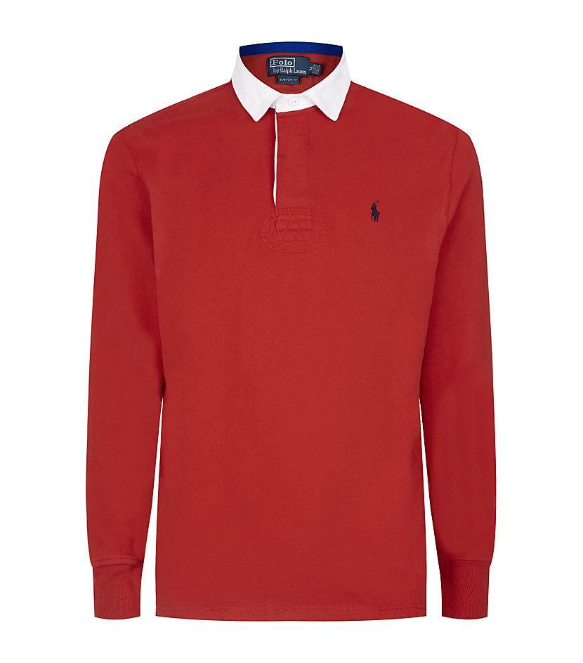 Polo Ralph Lauren Rugby Fleece Shirt In Red For Men Lyst