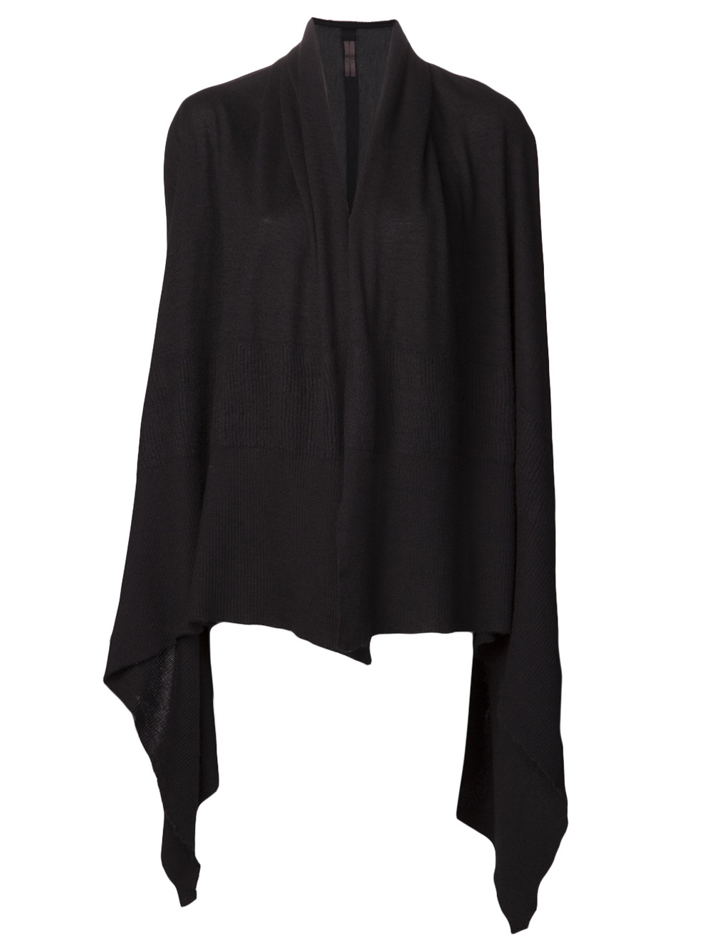 Rick owens Cashmere Hooded Wrap Sweater in Black | Lyst