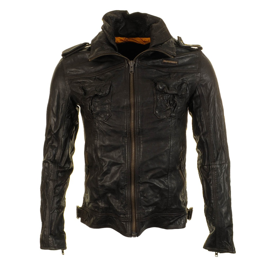 a06cba3fc Superdry Ryan Leather Jacket in Brown for Men - Lyst
