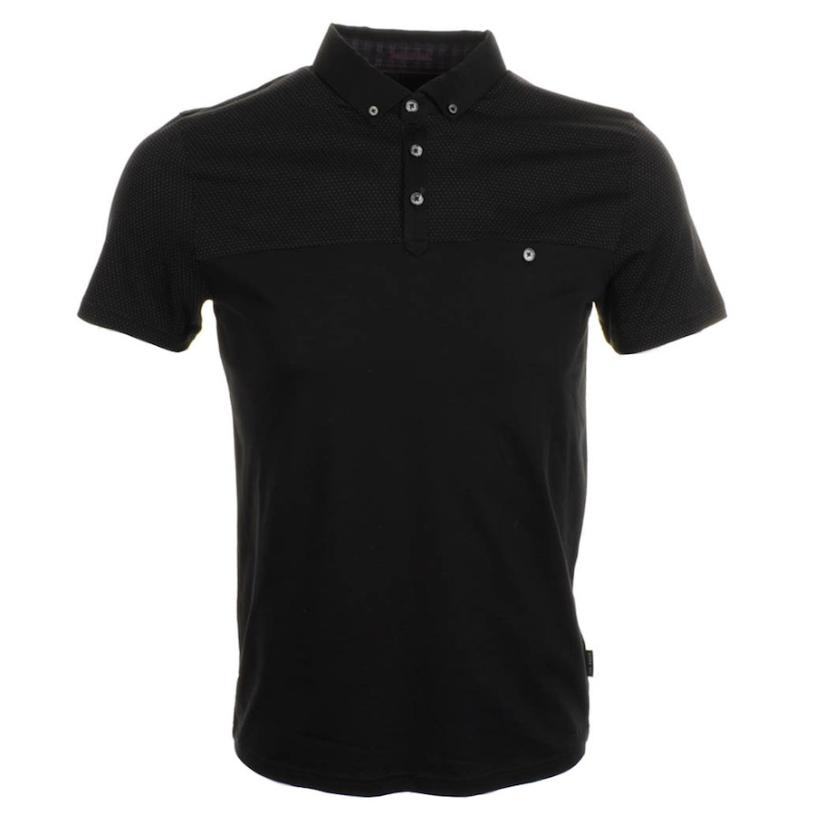 Ted baker mutley polo t shirt in black for men lyst for Ted baker mens polo shirts