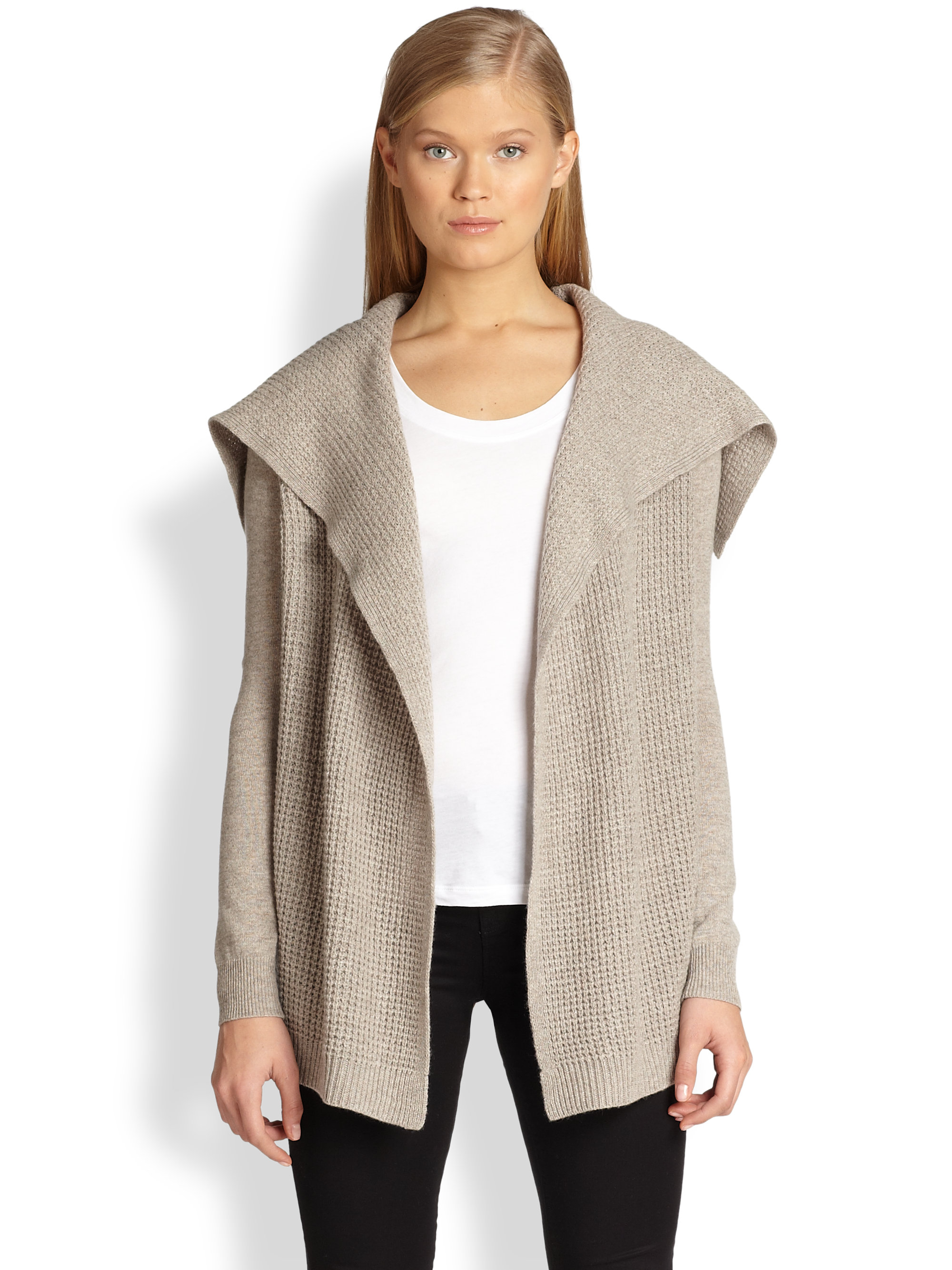 Theory Winxie Cashmere Cardigan in Gray   Lyst