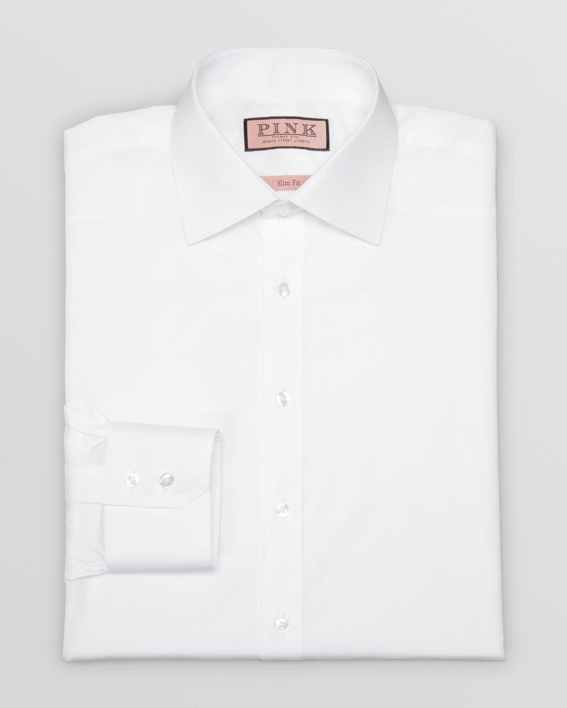 8942dfea Lyst - Thomas pink Quintessential Plain Button Cuff Dress Shirt .
