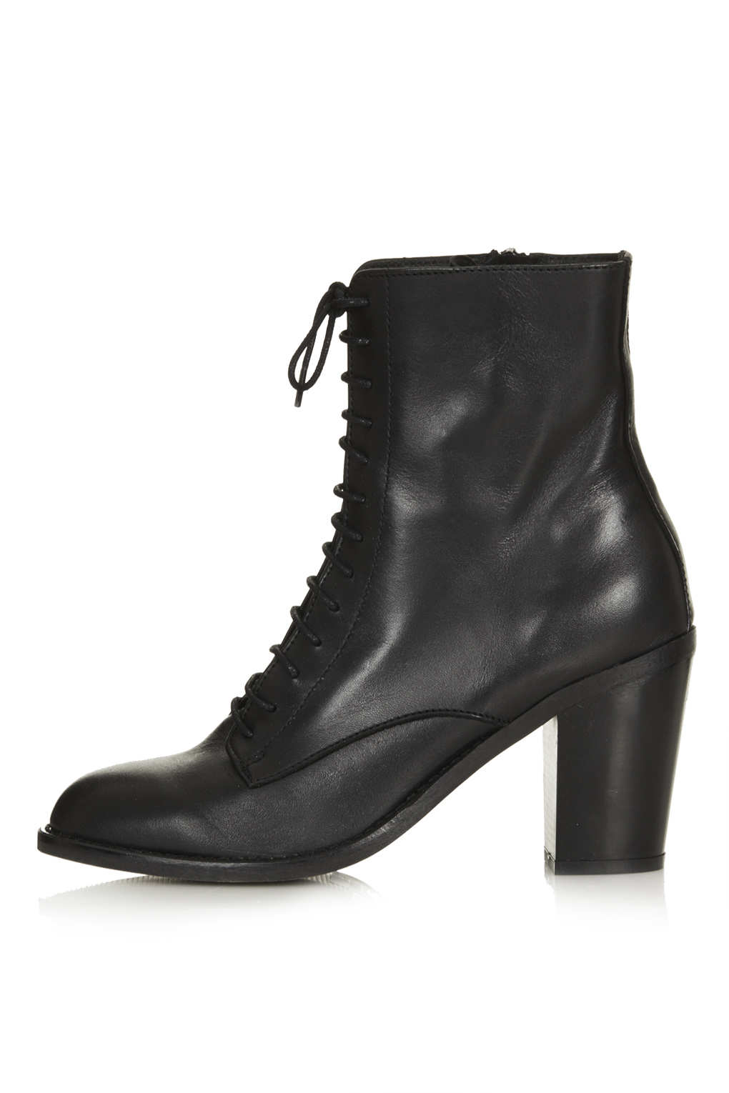Topshop Abra Lace Up Witch Boots In Black - Lyst-3840