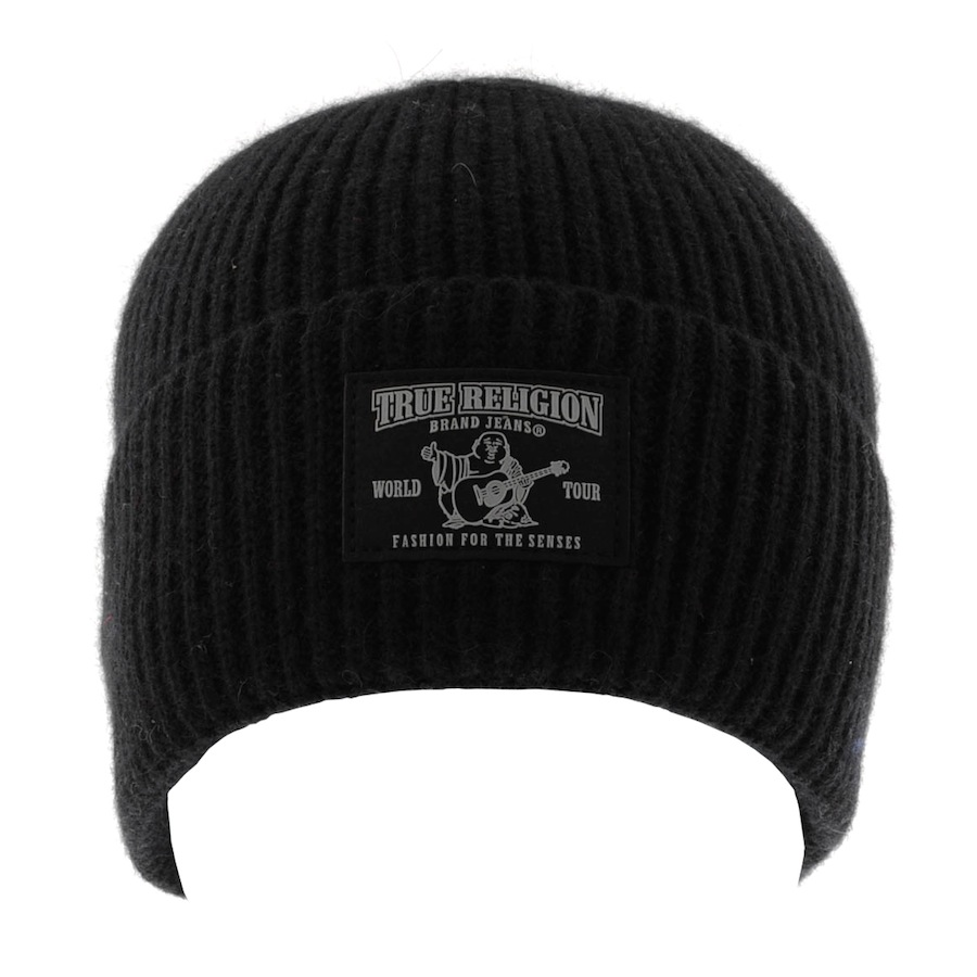 735c146b4f6 True Religion Ribbed Beanie Hat in Black for Men - Lyst