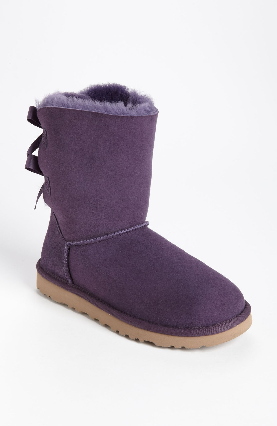 ugg bailey bow boot in purple purple velvet lyst. Black Bedroom Furniture Sets. Home Design Ideas