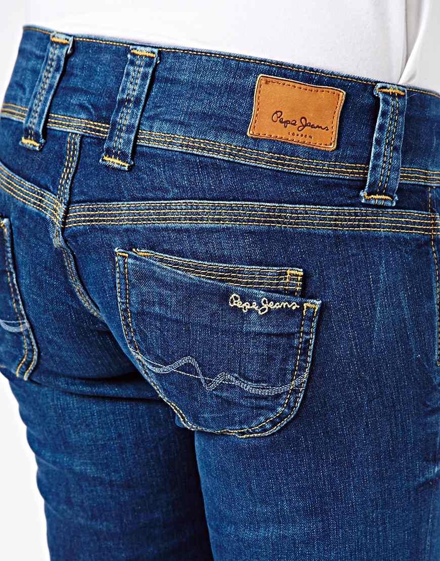 4571dbdecbf Lyst - ASOS Pepe Jeans Venus Straight Leg Jeans in Blue