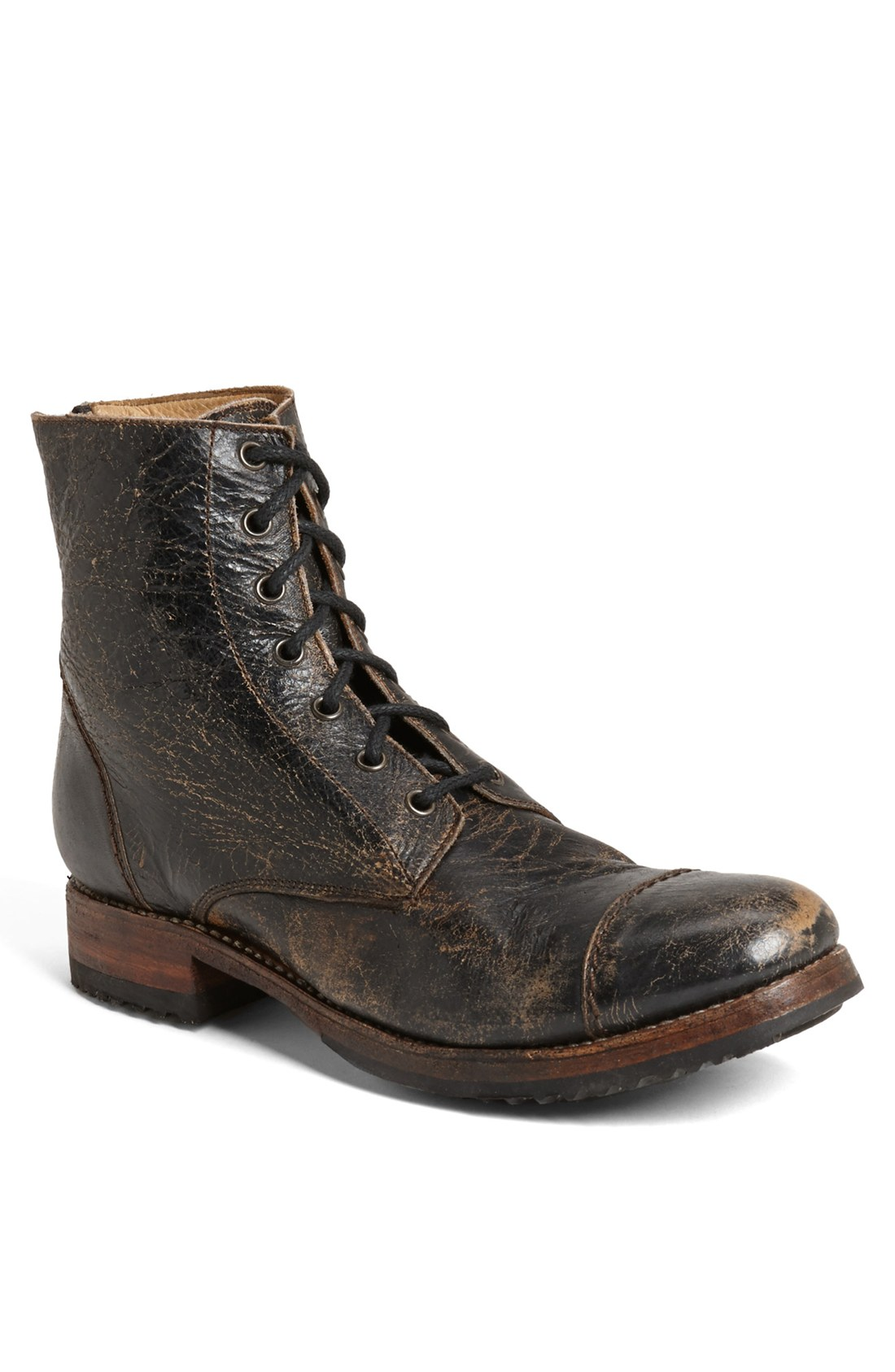 Bed Stu 'Protege' Cap Toe Boot in Black for Men   Lyst